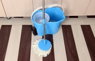 Hardwood floor and Spin mop