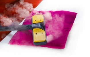 Pillow steam cleaning