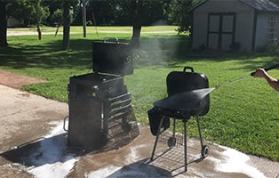 You really can pressure wash your BBQ grill